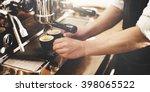 barista coffee maker machine... | Shutterstock . vector #398065522