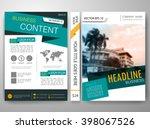modern magazine flyers cover... | Shutterstock .eps vector #398067526