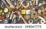 friends happiness enjoying... | Shutterstock . vector #398067775