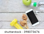 workout and fitness planning...   Shutterstock . vector #398073676