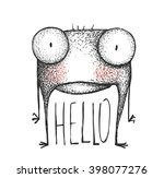 strange hand drawn creature... | Shutterstock .eps vector #398077276