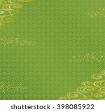 green background with japanese... | Shutterstock .eps vector #398085922