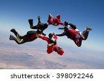Skydiving Star Teamwork