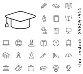 linear education icons set....