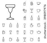 Linear drinks icons set. Universal drinks icon to use in web and mobile UI, drinks basic UI elements set | Shutterstock vector #398097976