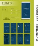 fitness mobile app material...