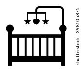 baby crib or infant bed with... | Shutterstock .eps vector #398105875