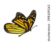 beautiful yellow monarch... | Shutterstock . vector #398109262