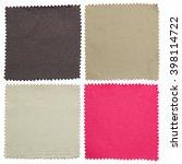 set of fabric swatch samples... | Shutterstock . vector #398114722