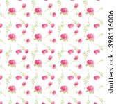 delicate pattern with flowers... | Shutterstock .eps vector #398116006
