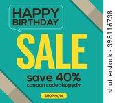 happy birthday sale banner... | Shutterstock .eps vector #398116738
