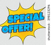 banner special offer  discount. ... | Shutterstock .eps vector #398123296