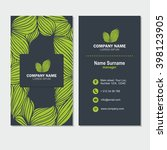 business card or visiting card...   Shutterstock .eps vector #398123905
