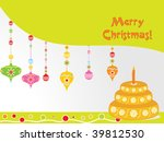 abstract merry christmas... | Shutterstock .eps vector #39812530