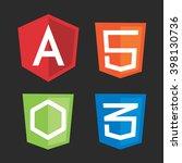computer js framework shields... | Shutterstock .eps vector #398130736