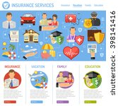 insurance services concept in... | Shutterstock .eps vector #398141416