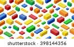 seamless background. isometric... | Shutterstock .eps vector #398144356