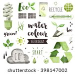 premium quality watercolor... | Shutterstock .eps vector #398147002
