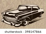Постер, плакат: Vintage muscle cars inspired