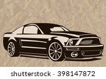 old school muscle cars inspired ... | Shutterstock .eps vector #398147872