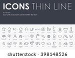thin stroke line icons of...