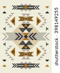 ethnic pattern design. vector... | Shutterstock .eps vector #398149255
