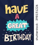 cute card for birthday with... | Shutterstock .eps vector #398151226