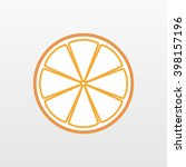 color orange fruit icon... | Shutterstock .eps vector #398157196