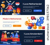 welcome to holland travel... | Shutterstock .eps vector #398157562