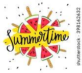 inscription summer surrounded... | Shutterstock .eps vector #398162632