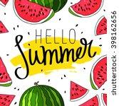 Hello Summer Inscription On Th...