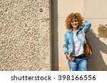 fashion shot of a beautiful... | Shutterstock . vector #398166556