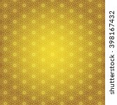 islamic typical pattern in gold ... | Shutterstock .eps vector #398167432