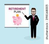 hipster businessman giving a... | Shutterstock .eps vector #398168005