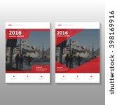 red elegance vector annual... | Shutterstock .eps vector #398169916