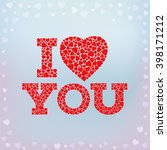 i love you inscription with... | Shutterstock .eps vector #398171212