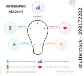 infographic template with... | Shutterstock .eps vector #398172202