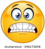 grimacing emoticon showing... | Shutterstock .eps vector #398172898