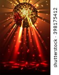 sparkling disco ball. night... | Shutterstock .eps vector #398175412