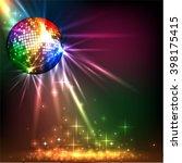 sparkling disco ball. night... | Shutterstock .eps vector #398175415