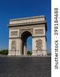 arc de triomphe de l'etoile on... | Shutterstock . vector #398184688