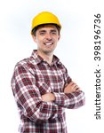 a young man in a helmet | Shutterstock . vector #398196736