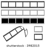 black and white film strip 35mm | Shutterstock . vector #3982015