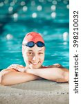 female swimmer  portrait of a... | Shutterstock . vector #398210032