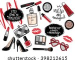 hand drawn fashion set.... | Shutterstock .eps vector #398212615