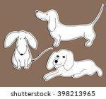 simple contour pets. line style ... | Shutterstock .eps vector #398213965