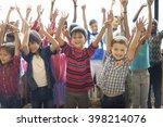 students children cheerful...   Shutterstock . vector #398214076