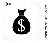 money bag vector icon with...