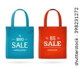 color sale bag labels set.... | Shutterstock .eps vector #398231272