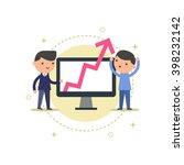businessmen looking a chart ... | Shutterstock .eps vector #398232142